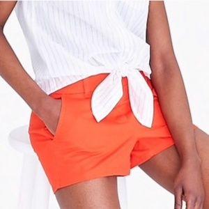 "J Crew 3"" Chino Broken-in Shorts - Orange"